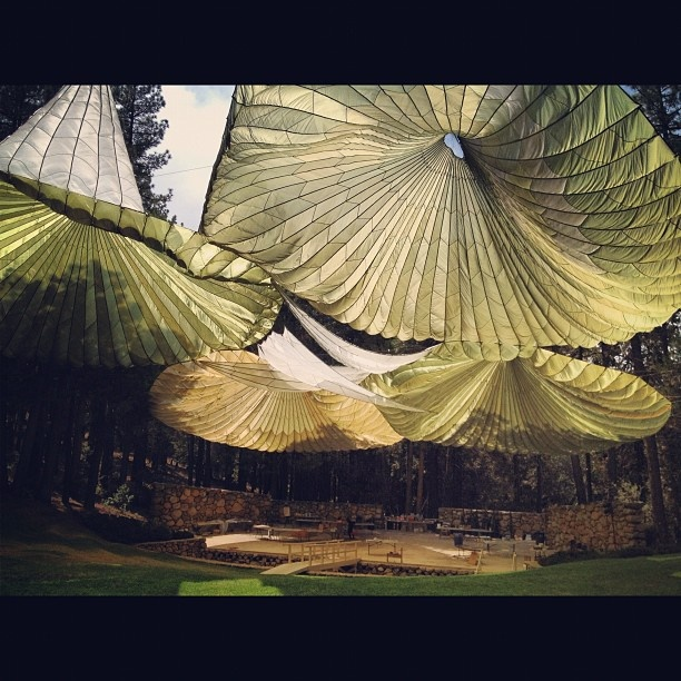 Idyllwild Arts Foundation parachute canopy amphitheater. Say that five times fast. - Usegram - Instagram on your desktop