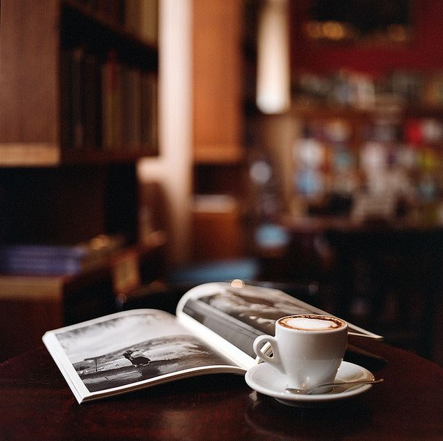 Leisure time with a book and tea