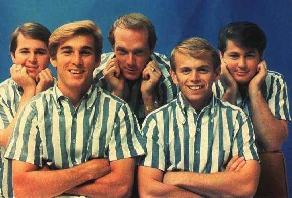 "The Original Group...Carl Wilson, Dennis Wilson, Mike Love, Al Jardin and Brian Wilson...""Catch a Wave..."""