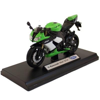Motocicleta Kawasaki Ninja ZX-10R  - 22 RON     Un cadou potrivit pentru toti pasionatii de motociclete. Macheta Motocicleta Kawasaki Ninja ZX-10R , scara 1/18, este o motocicleta de colectie confectionata din metal, avand un aspect real.