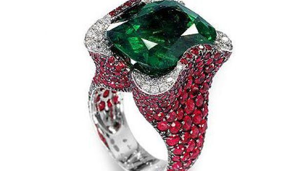Anello De Grisogono con smeraldo