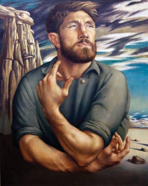 Edward Bullmore (1933 - 1978) New Zealand Self Portrait, 1959. Oil on canvas