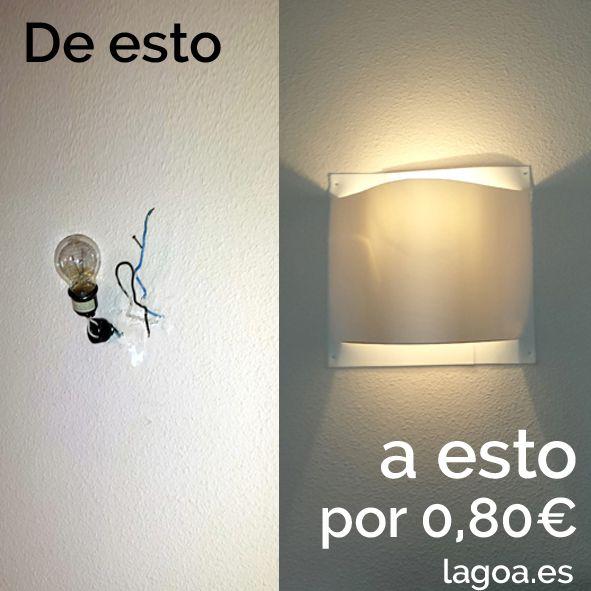 lampara moderna de pared por 80 centimos de euro ¡esto es diseño!