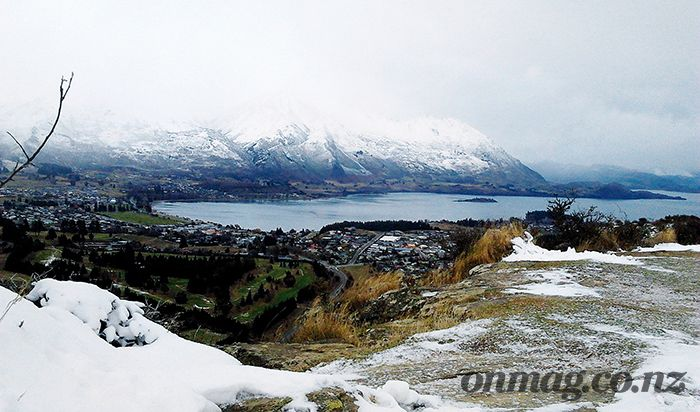 Wanaka in winter from Mt Iron