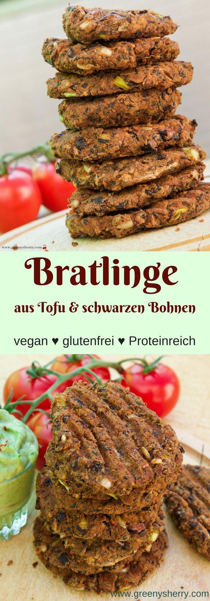 Burger-Bratlinge aus schwarzen Bohnen und Tofu (Vegan& Glutenfrei) www.greenysherry.com