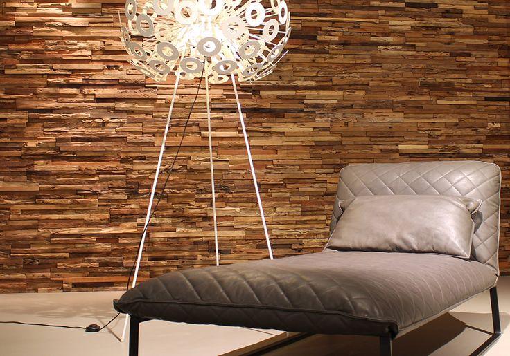 Interieur inspiratie houten wandbekleding materialen wand pinterest wonderwall interieur - Kleden houten wand ...