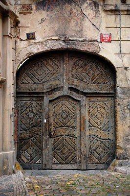 Carved doors. Prague