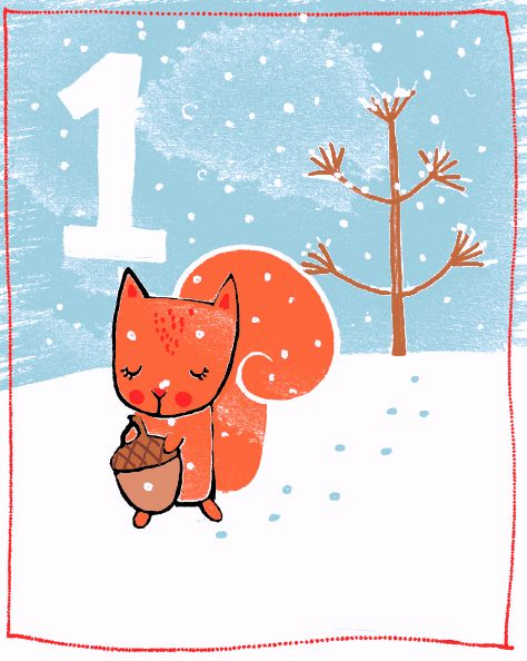 Christmas Calendar Illustration : Best images about iilu animals on pinterest