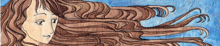 Happy Feet – Quilt Binding Edition | A Woman A Day.  Binding a quilt using Flat Fell foot.