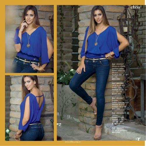 ebba venta por catalogo - Ref. 351517 Blusa en chalis | FEMME International | Venta por catalogo