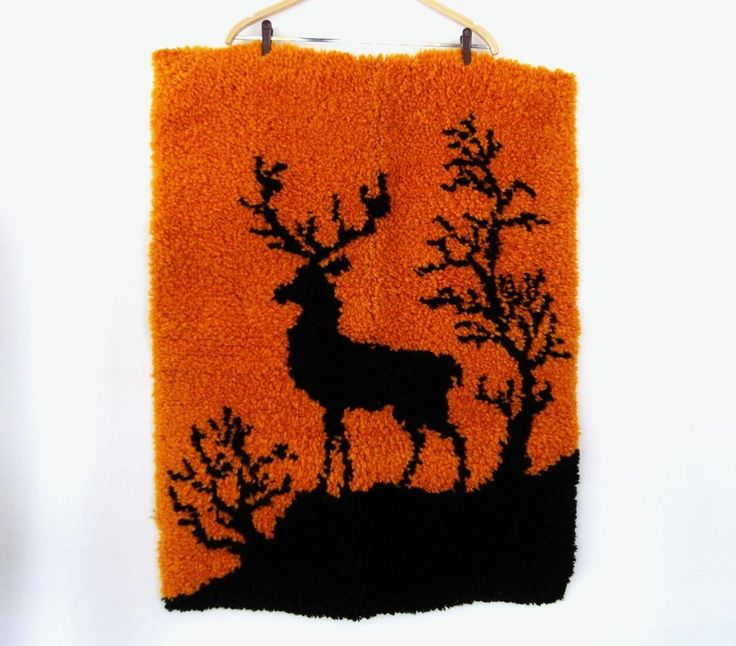 Moose Rug Hooking Kit: 2317 Best Latch Hook Images On Pinterest