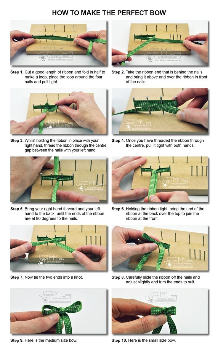 How to tie the perfect bow - Splotch Design - Jacquii McLeay
