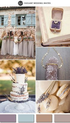 romantic lavender and nude wedding color palettes for 2015 wedding ideas
