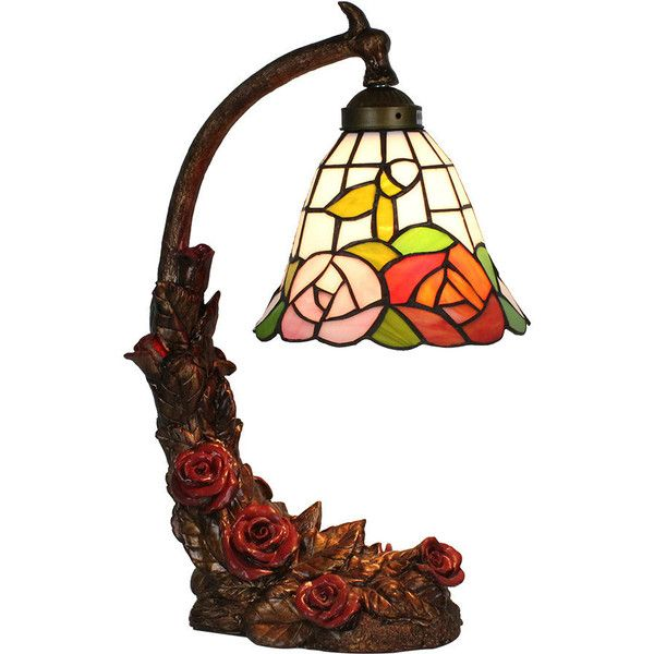 European Pastoral Retro Style Table Lamp Red Rose Resin Base Color... (745 DKK) ❤ liked on Polyvore featuring home, lighting, table lamps, array0xa64d1d0, floral lamp shade, red lamp, rose lamp, retro lampshade and floral lampshades