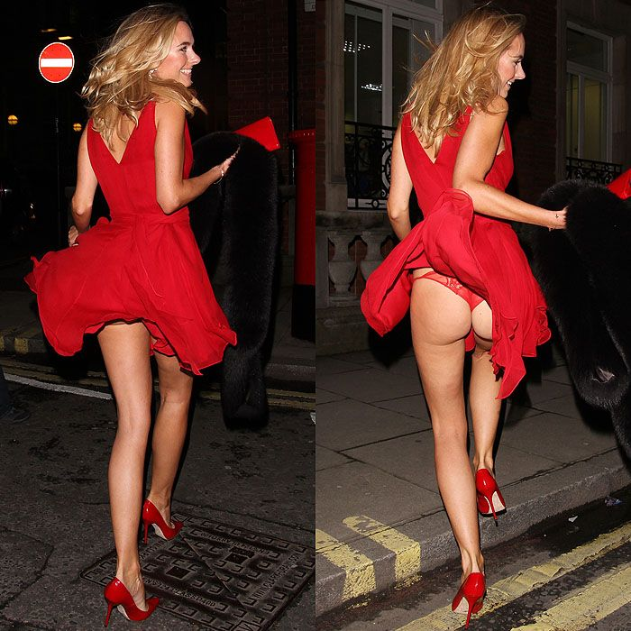 21 Celebrities with Dresses and Skirts Caught in the Wind