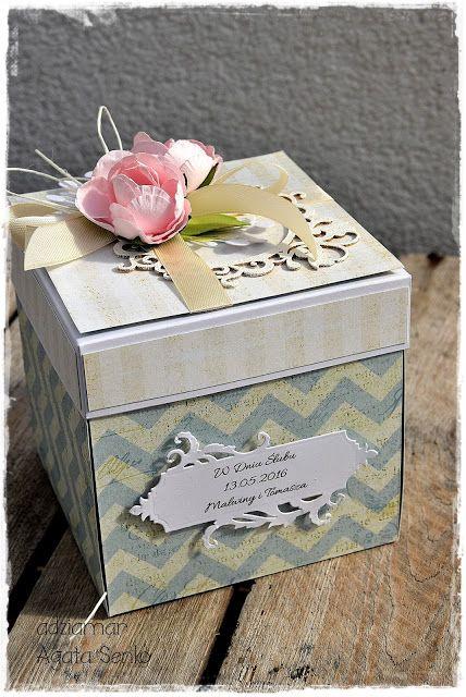 (adzia) mary czary: Exploding box na ślub inspiracja dla Filigranek