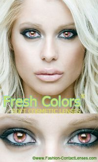 Pink Contact Lenses by Fresh Colors (PEU)