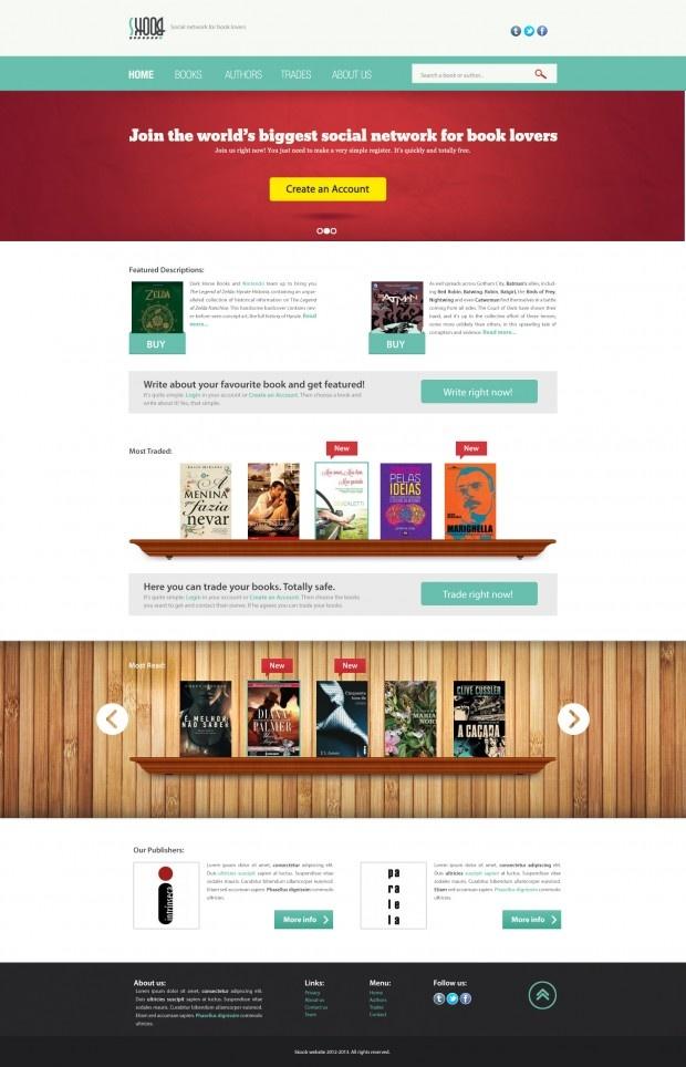 Skoob Website, Redesign, Texture, Web Design, Wood