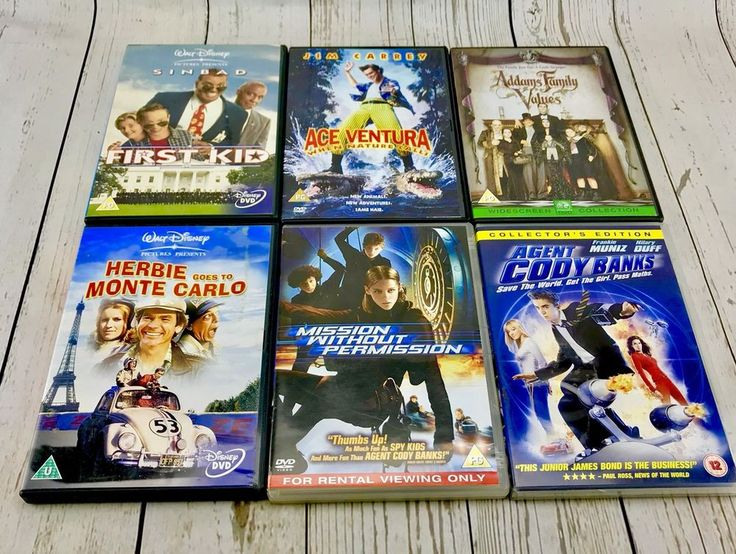 Large Dvd Bundle 6 DVD's Family Kids Children's Herbie First Kid Adams Family