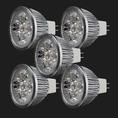 5X LED Spotlight Bulb 4W MR16 GU5.3 DC12V Warm White Spot Light Energy Saving