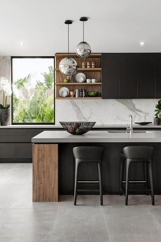 21 Of The Most Beautiful Kitchens On Pinterest Vogue Australia Scandinaviankitchen In 2020 Modern Kitchen Modern Kitchen Design Interior Design Kitchen