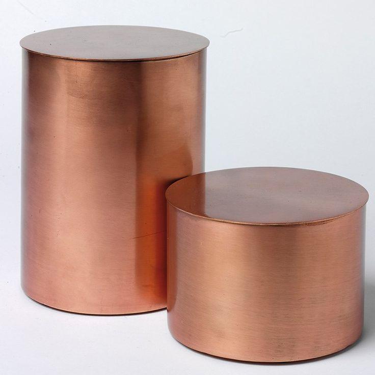Skjalm P: Skjalm, Copper, Boxes Medium, Og Accessories, Products, Låg Kobber, Cylinderbox Kobber