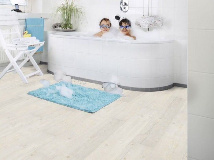 The Nordic Spring Vinyl flooring is a cool light, white washed wood look floor, which lends itself to a modern clean look or a shabby cottage look.