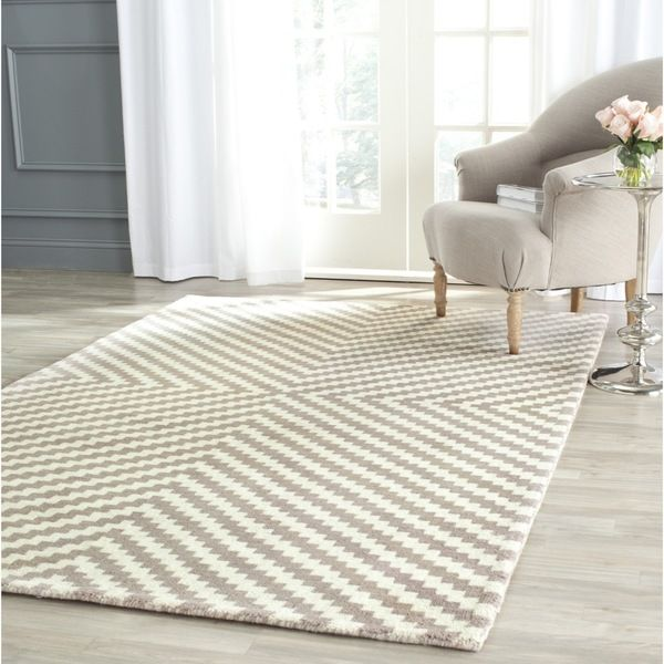Safavieh Handmade Cambridge Grey Ivory Wool Rug 4 X 6