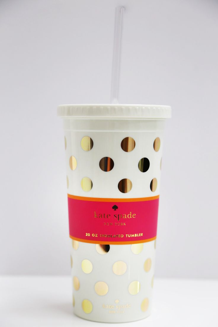 Gold Dots Insulated Tumbler: Kate Spade - The Rage - 1