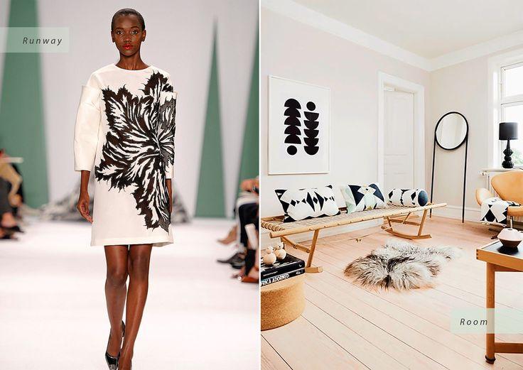 © Carolina Herrera / Oyoy Carolina Herrera Spring 2015 Runway   Oyoy Living Interior Design Inspired by Spring 2015 Fashion Trends - Condé Nast Traveler