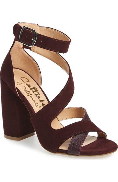 Callisto 'Dinah' Crisscross Ankle Strap Sandal (Women) available at #Nordstrom