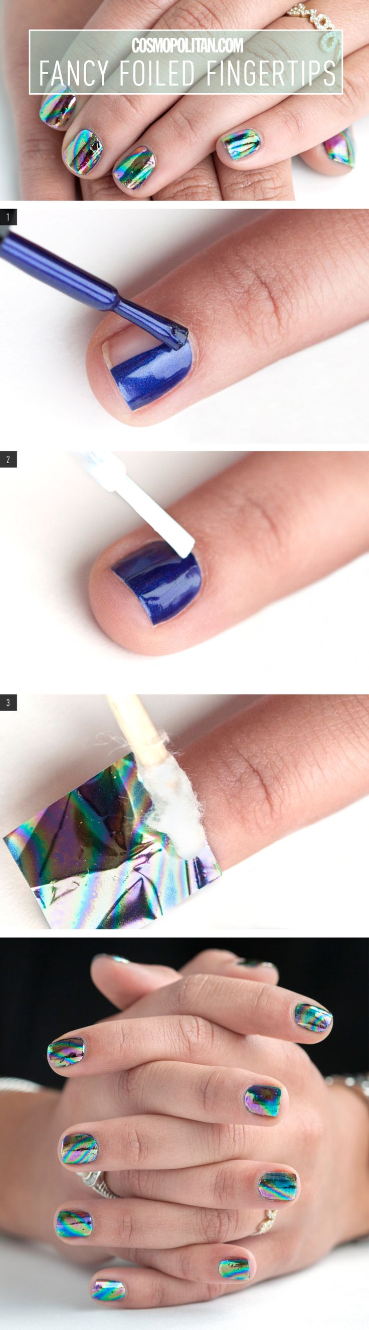 You're so fancy, you already know ... but prepare to be even fancier after figuring out how get this foiled mani, thanks to Julie Kandalec, creative director of Paintbox Nail Salon.