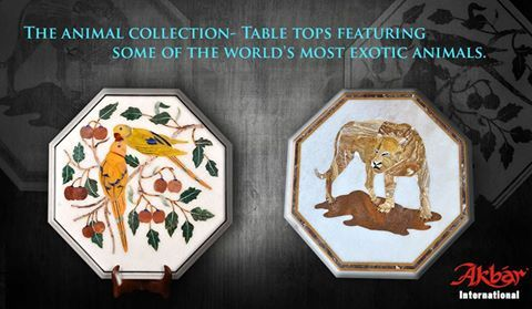 """Akbar International - """"Featuring Some of the World's Most Exotic Animals in Marble Inlay"""""""