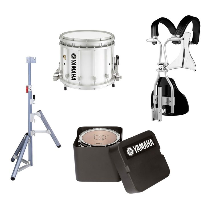 """Yamaha 14"""" x 12"""" 9300 SFZ Marching Snare Drum, Chrome Hardware, MonoPosto Carrier, Case, and Stand"""