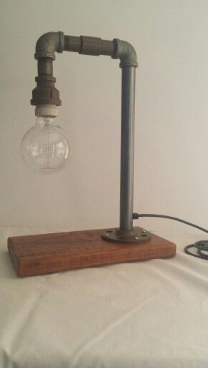 Steampunk plumbing pipe single hook lamp