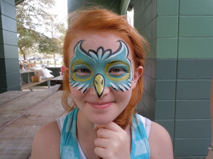 perfect face paint to go with my wings!