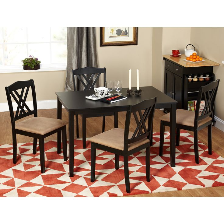 This dining set features a contemporary look with the double criss cross  chair back and39 best Small Dining Room Sets images on Pinterest   Small dining  . Sienna Collection Black Counter Dining Table. Home Design Ideas