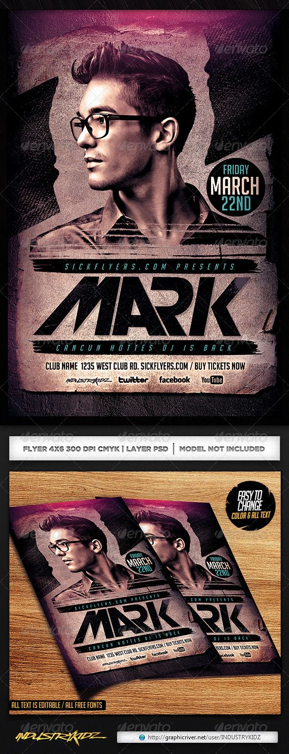 Electro House DJ Flyer Template