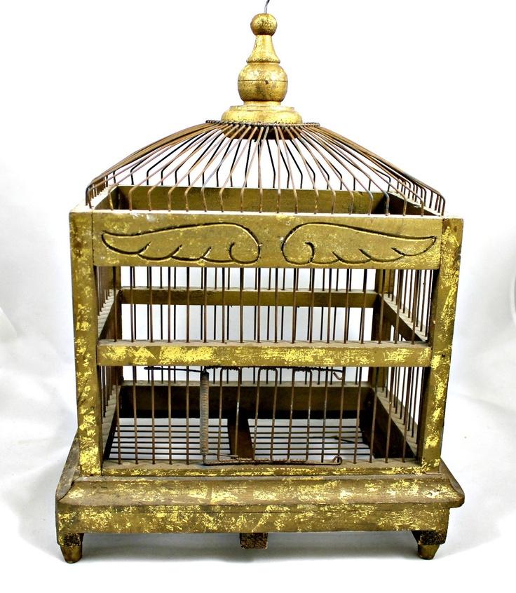 Gartenbank Holz Vintage Grey ~ mehr viu vogelbauer bühne vintage vögel vintage vogelkäfig