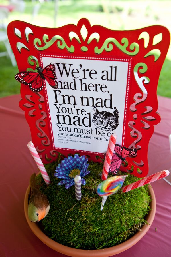 57 best mad hatter graduation party images on pinterest - Mad hatter tea party decoration ideas ...