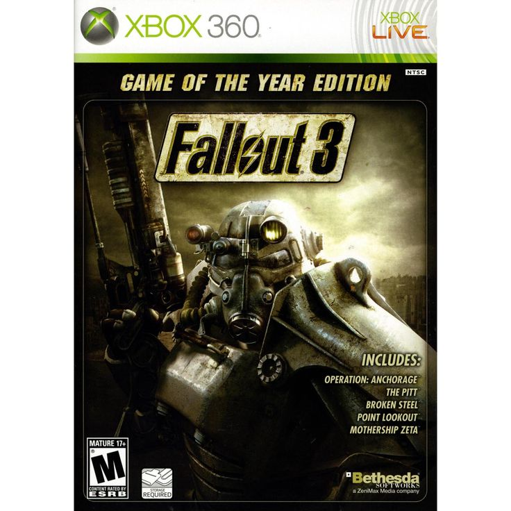 Fallout 3  Game of the Year Edition Xbox 360 [Brand New]  Item specifics  Condition:  Brand New: An item that has never been opened or removed from the manufacturers sealing (if applicable). Item  Platform:  Microsoft Xbox 360  MPN:  093155129672  Release Year:  2009  Publisher:  Bethesda  Rating:  M  Mature  UPC:  093155129672  Game Name:  Fallout 3  Fallout 3  Game of the Year Edition Xbox 360 [Brand New]  Product Details  Product Information  Vault 101  Jewel of the Wastes. For 200 years…