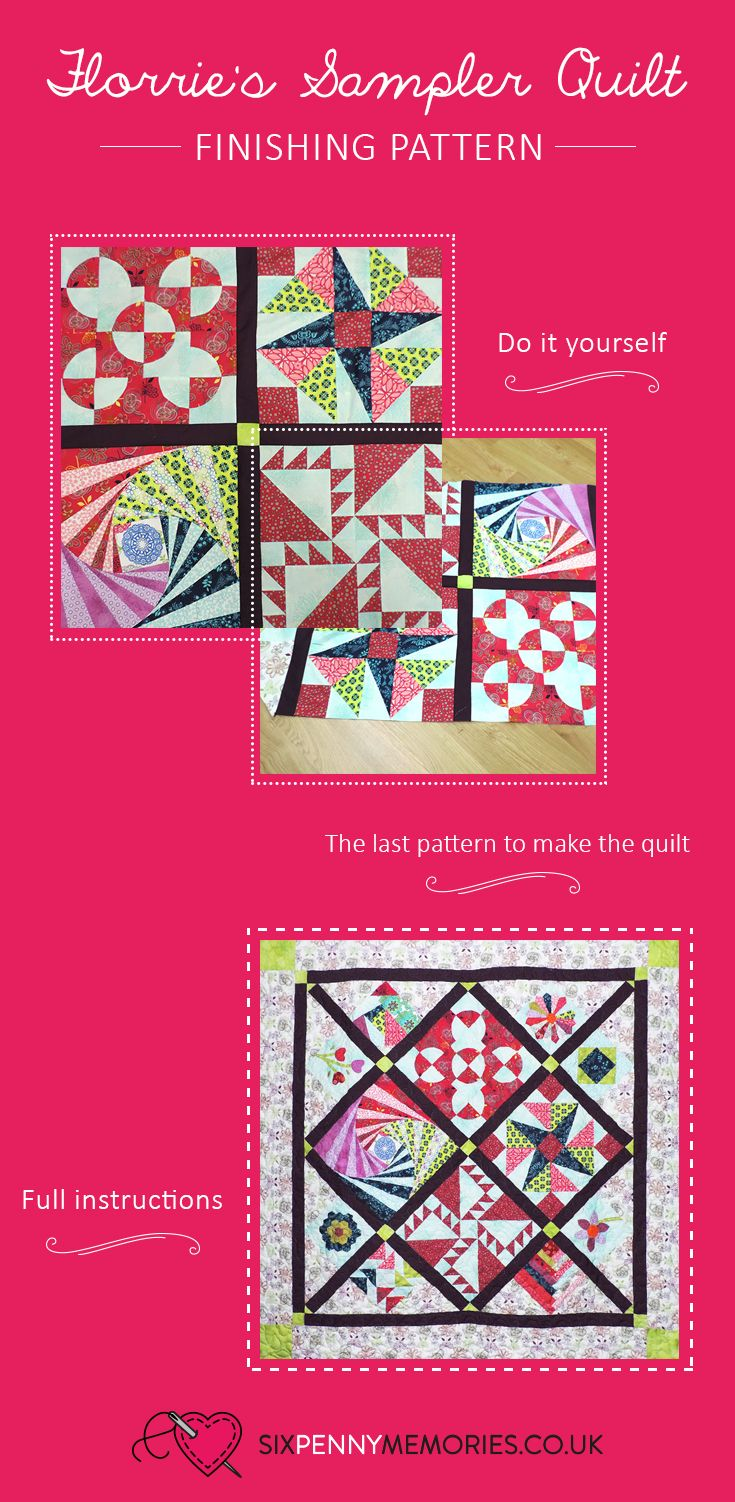 Finishing pattern for Florrie's Sampler Quilt