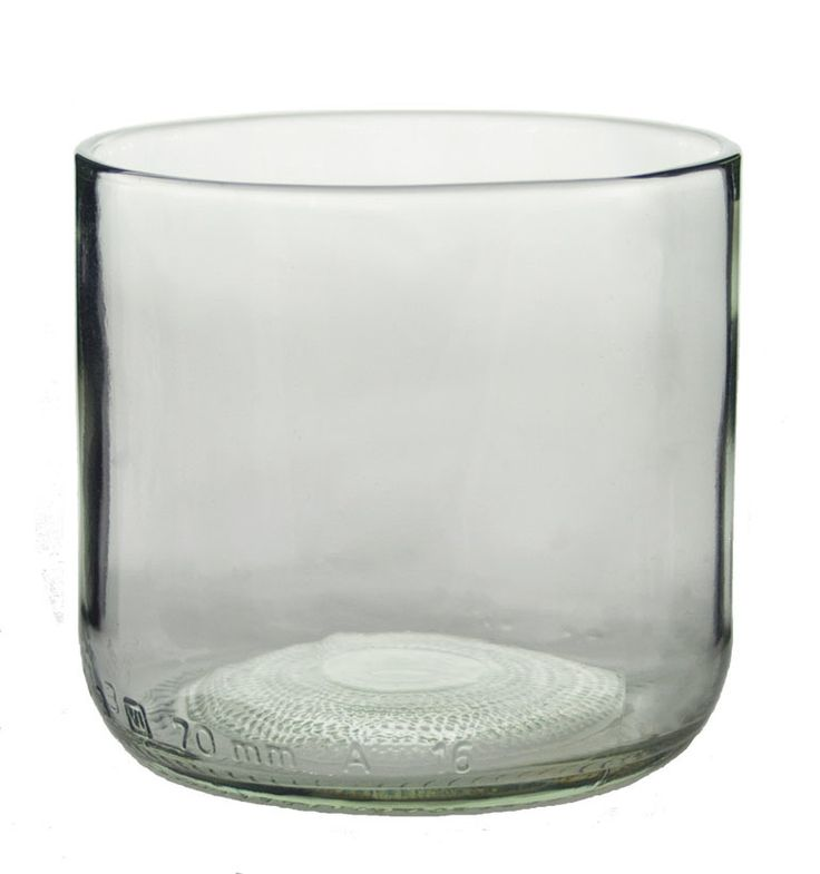 Clear Tumblers Made From Crème de Menthe Bottles - Set of 4