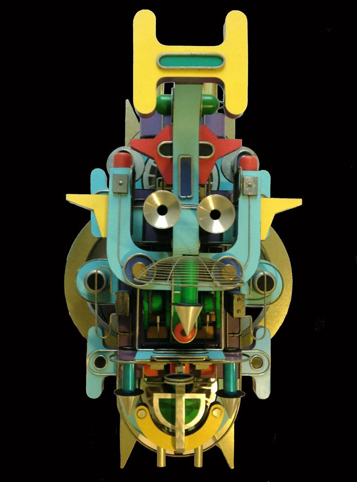 <strong>Navigator</strong> Top view<br/> Metal, plastic,glass & electrical components / 81x55x50cm / 2011