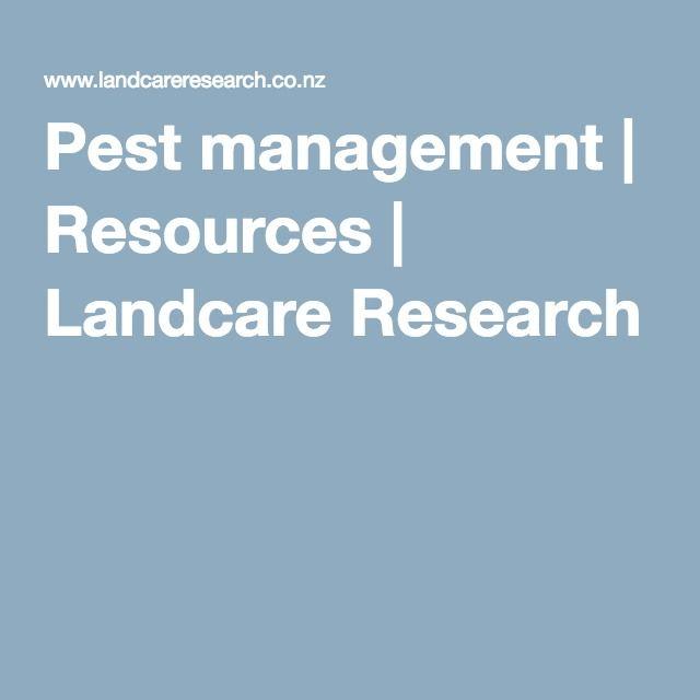 Pest management Resources