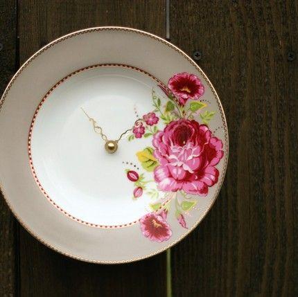 hand made clocks   china clock by fairehoure on etsy Handmade Clocks