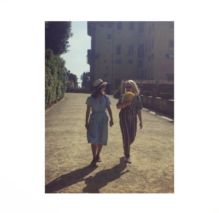 Jenna Coleman and Sammy Winward in Italy 2016