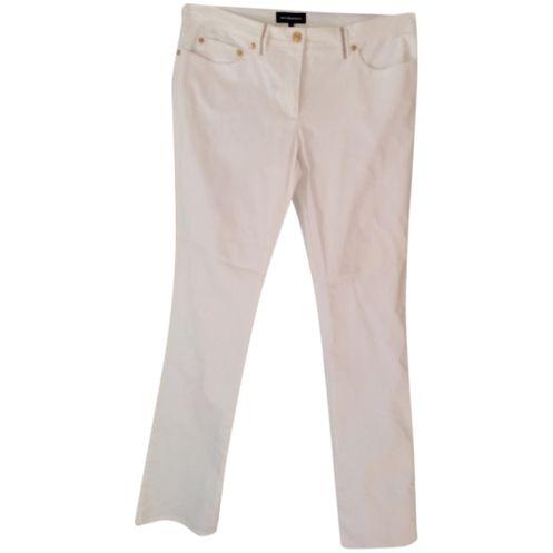 jeans bianco Rocco Barocco applicazioni gioiello nuovo mai usato Tg 50
