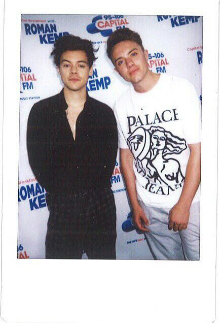 Harry with Roman Kemp on Capital Breakfast.