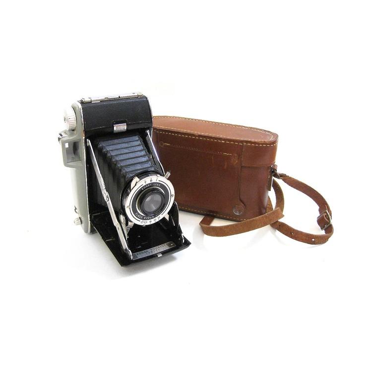 kodak folding camera & leather case. $52.00, via Etsy.